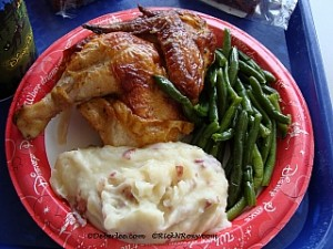GF Rotisserie Chicken, Mashed Potatoes & Green Beans